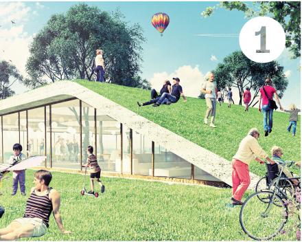 Concept 1: toegankelijkheid, groen, binnen/buiten, flexibel, toekomst